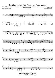 diegosax: Star Wars Partitura de La Guerra de las Galaxias de Johnn Williams Partitura para Flauta, Saxofón, Violin, viola, saxo tenor, fagot, oboe, soprano, clarinete, chelo, corno inglés, trombón, tuba, Xilófono y Metalófono Melodíay partitura de Trompeta Sheet music Star Wars for Sax, Violin, viola, cello, tenor sax, soprano saxophone, clarinet, Trumpet, trombone, bassoon,Tube, Flute, Star Wars Muisc Score Partitura de La Marcha Imperial de Star Wars para Saxofón Alto, Barítono… Cello Sheet Music, Sheet Music Book, Violin Music, Oboe, Bassoon, Soprano Saxophone, Jazz, Teaching Music, Piano Lessons