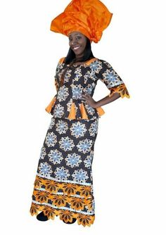 Black And Orange African Lace Style