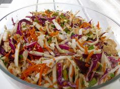 Although this takes some prep work with all the chopping of veggies, I use a few short cuts. One of our FAVORITE summer salads!