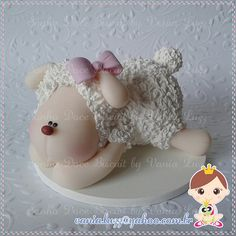 Topo de bolo ovelhinha =) | Flickr - Photo Sharing!
