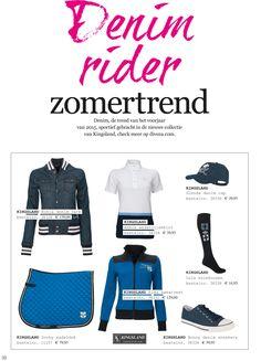 #Denim #rider #zomertrend. Denim, de trend van het voorjaar van #2015, #sportief gebracht in de nieuwe #collectie van #Kingsland. Check meer op www.divoza.com