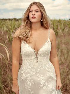 Ellen Nature-Inspired Ball Gown Wedding Dress   Rebecca Ingram Wedding Dress Shopping, Dream Wedding Dresses, Boho Wedding Dress, Designer Wedding Dresses, Bridal Dresses, Wedding Gowns, Bridal Closet, Blush Gown, A Line Gown