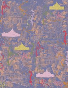 Pavilion by Marc Camille Chaimowicz 003 Ultramarine Marc Camille Chaimowicz, Textile Patterns, Textiles, Print Wallpaper, Aesthetic Iphone Wallpaper, Color Theory, Designer Wallpaper, Home Decor Items, Pavilion