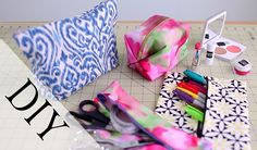 DIY Pencil Case & Makeup Bag {No Sew & Sew} by ANNEORSHINE