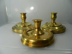 Vintage Brass Candlestick Brass Candle Holder by 3sisterstreasures, $18.99