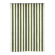 Ikea Sofia fabric-green/white stripe