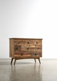 The RUBRICKS Chest of Drawers - in Reclaimed Elm - Swoon Editions - swooneditions.com