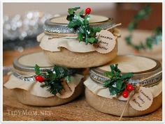 Cinnamon Honey Butter in Jars - great gift idea at TidyMom.net