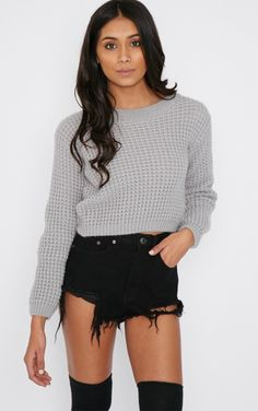 Tilde Grey Knitted Crop