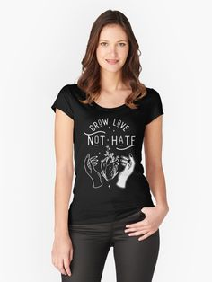 Grow Love Not Hate - Love - T-Shirt   TeePublic #equality #blm #nohate  All of my #geeky #nerdy #goth designs are available on #tees, #tanks, #hoodies, kid's clothing, #stickers, #magnets, #facemasks, #cases, wall #art, #aprons, #rugs, #coasters, #blankets, #pillows, #mugs, water bottles, #curtains, #tapestries, #backpacks, #totes, #duffel bags, zipper #pouches, #pins, #stationary, #notebooks, #gifts, & much more! Honda Cb750, Steelers Football, Kitesurfing, Crazy Cat Lady, Birthday Squad Shirts, Bubble, Christmas Abbott, Christmas Kiss, Christmas Ribbon