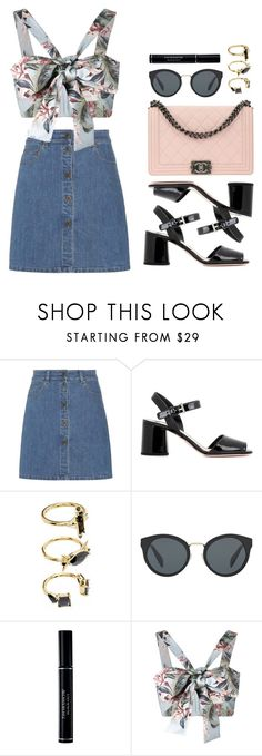 Street style by sxpphie on Polyvore featuring moda, Zimmermann, Miu Miu, Prada, Chanel, Noir Jewelry, Christian Dior, StreetStyle, Summer and Chanelbag