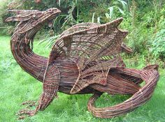 Willow dragon by Bere Island - I would love to have this in the yard..looks like a lot of work :-)