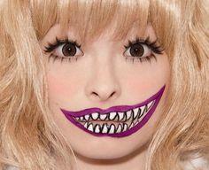 craaaazy * I would have put black in between the teeth...