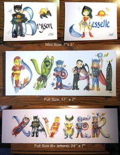 Custom Superhero Name Painting Avengers Marvel Iron by Legendbrush