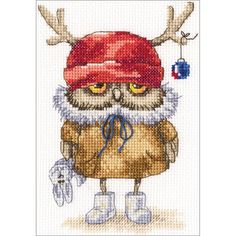 """Counted Cross Stitch Kit-6""""X6.25"""" 14 Count"""
