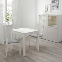 EKEDALEN / EKEDALEN Table and 2 chairs, white, Orrsta light gray - IKEA At Home Furniture Store, Modern Home Furniture, Living Room Furniture, Furniture Online, Luxury Furniture, Chaise Ikea, Ikea Chair, Ikea Couch, Smart Design