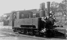 Locomotora del tren de Sant Feliu de Guíxols