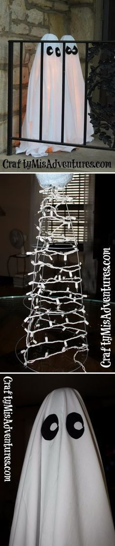 Cute Tomato Cage Ghosts for Outside.