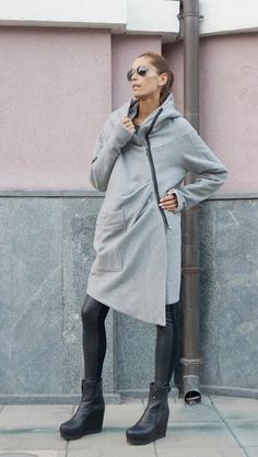 NEW Extra Warm Qilted Winter Asymmetric Extravagant by Aakasha