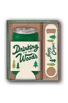 """CAN COOLER GIFT SETS by Molly & Rex Contains one stainless steel paddle-style bottle opener and one neoprene can cooler in a coordinating box Box size: 6 1⁄2"""" x 7 1⁄2"""" x 1"""" Beer Gift Sets, Beer Gifts, Keep Cool, Getting Cozy, Bottle Opener, Drinking, Canning, Happy Campers, Cool Stuff"""