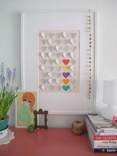 Casa de Retalhos: Corações de papel {Paper hearts}