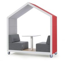 Modular furniture consists of treehouse-inspired pieces that can be joined together or positioned separately depending on the need and task. The furniture was.