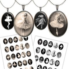 Vintage Ballerina 30x40mm Oval images for Jewelry by Bottlecap4u, $3.50