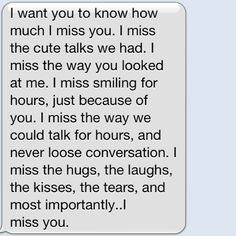 i miss you text message
