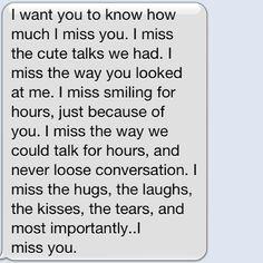 i miss u text for him