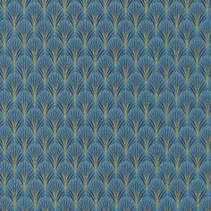Timeless Treasures Enchanted Plume Dynasty Scallop Blue