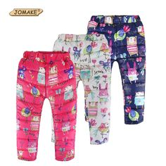 2017 Autumn Winter Children Trousers Baby Clothes Girls&Boys Thick Warm Toddler Kids Pants Cute Cartoon Animal Graffiti Clothing