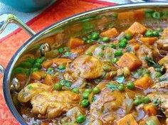 "We love the recipes from Janet and Greta Podleski.  We call them the ""Looneyspoon Ladies."" This recipe for Indian Coconut-Curry Chicken Thighs looks amazing. Just add Naan bread, LOL. Like this pin if you can smell it cooking right now."