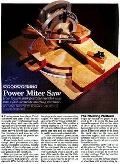 #2800 Homemade Miter Saw - Circular Saw Miter Saw
