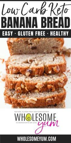 Banana Bread Low Carb, Banana Bread Almond Flour, Sugar Free Banana Bread, Moist Banana Bread, Banana Bread Recipes, Hawaiian Banana Bread Recipe, Sugar Free Zucchini Bread, Coconut Flour Recipes, Almond Recipes
