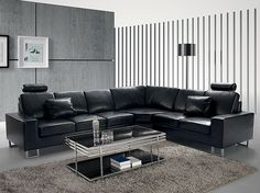 black leather lounge suite , beautiful finish very stylish and functional