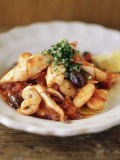 Quick Stewed Squid   Seafood Recipes   Jamie Oliver Recipes