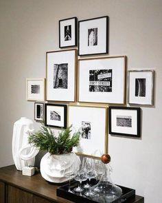 Gallery Frames – Polished Brass - All About Decoration Living Room Decor, Bedroom Decor, Dining Room, Gallery Wall Frames, Picture Frames On Wall, Black Frames On Wall, Modern Gallery Wall, Gallery Walls, Diy Wall Decor