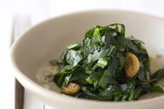 Brazilian-Style Collard Greens. Ingredients: collard greens, coconut oil, butter, shallot, garlic cloves, sea salt, pepper