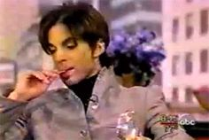 That time Prince pulled a cracker out of his pocket, and just started nibbling on it during an interview…Prince Gifs