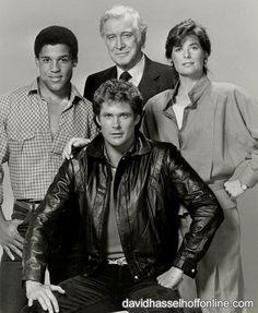 Peter Parros, Edward Mulhare, David Hasselhoff and Patricia McPherson (KNIGHT RIDER, SEASON 4, 1985-1986)