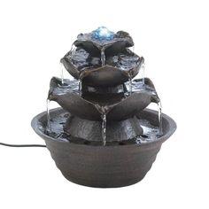 Lotus Bloom Tabletop Fountain