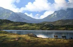 Peaceful Day in Inagh Valley by Eileen Meagher Irish Landscape, Irish Art, Connemara, Belfast, Contemporary Paintings, Dublin, Art Gallery, Peace, Sculpture