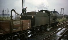 44603 taking water nr. Live Steam Locomotive, Diesel Locomotive, Model Railroader, Old Steam Train, Abandoned Train, Steam Railway, Old Trains, British Rail, Steamers