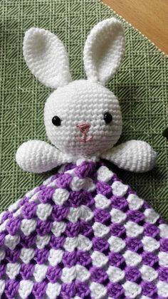 Mesmerizing Crochet an Amigurumi Rabbit Ideas. Lovely Crochet an Amigurumi Rabbit Ideas. Crochet Lovey Free Pattern, Crochet Geek, Crochet Blanket Patterns, Baby Blanket Crochet, Crochet Crafts, Crochet Projects, Crochet Baby Toys, Easter Crochet, Crochet Bunny