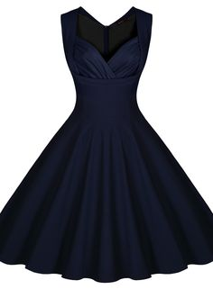 Min Miusol Women's Cut Out V-Neck Vintage Casual Retro Dress | Amazon.com