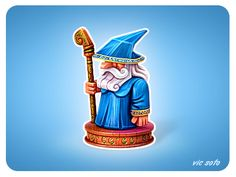 Dribbble - Wooden Wizard by Victor Soto
