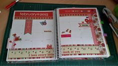Erin condren life planner Febuary monthly Page decoration