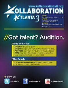 Kollaboration Atlanta 3 Auditions