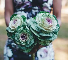 Ornamental kale bouquet. They last about a week and, surprisingly, never become very smelly.