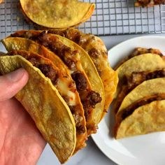 The Best Beef and Cheese Oven Baked Tacos for Meal Prep If you love extra cheesy, crispy beef tacos, these oven baked tacos are the move. They're super easy to make and perfect to prep in bulk for a quick meal or snack on the go. Oven Baked Tacos, Baked Tacos Recipe, Crispy Tacos, Crispy Beef, Baked Chicken Tacos, Mexican Food Recipes, Beef Recipes, Cooking Recipes, Healthy Recipes